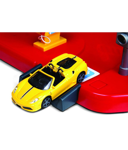 pista de autos juguete bburago ferrari auto service centre