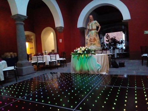 pista de baile iluminada, vintage, charol, templete