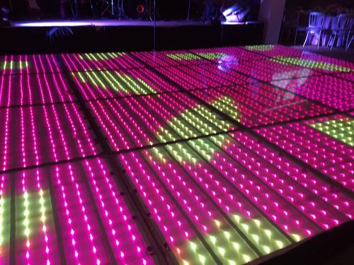 pista de baile led iluminada