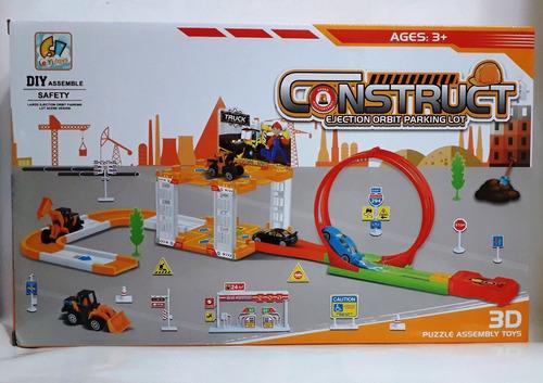 pista de carros construc. vuelta de 360º 1 maquina 1 carro
