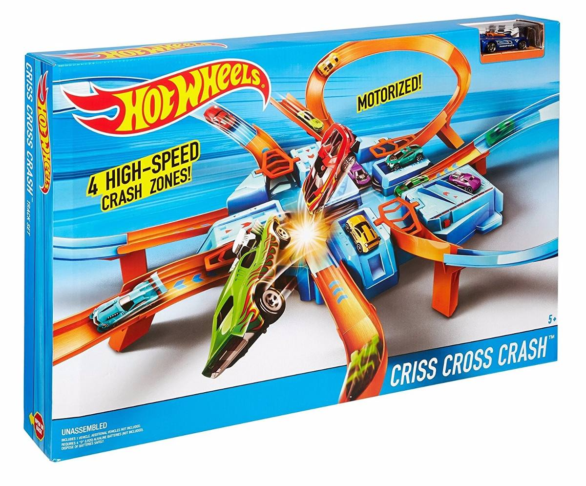 Pista De Carros Criss Cross Crash Hot Wheels Juguetes Ninos