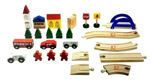 pista de carros didáctico rompecabezas madera envio gratis