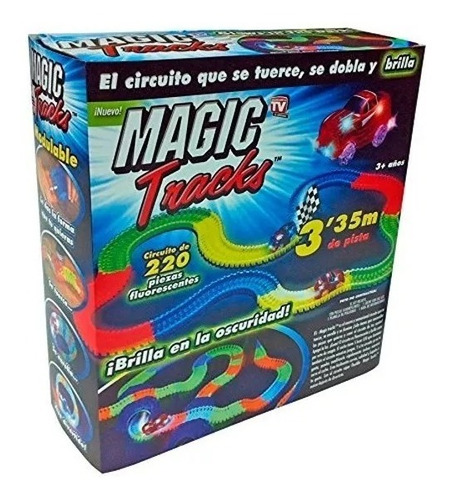 pista de carros en neon magic tracks 220 piezas promo ajd