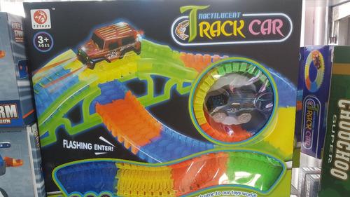 pista de carros flexible magic tracks + puente car 150 pieza