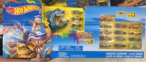 pista de carros hot wheels - playa tiburón - envío gratis