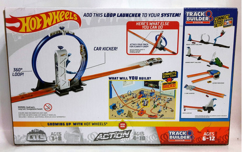 pista de carros hotwheels track builder loop launcher