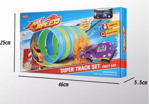 pista de carros túnel  max speed autos niños juguete