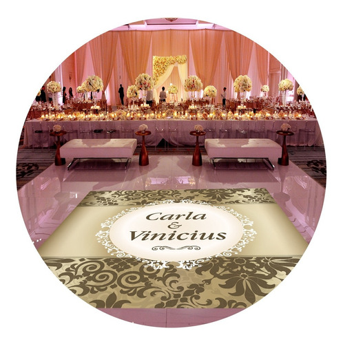 pista de dança para casamento tapete dourado ps14 - 5x5m