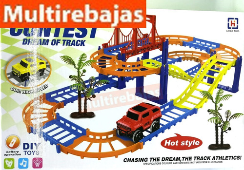 pista de juguete racing game