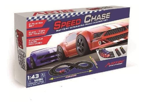 pista eléctrica artin speed chase 97 x 47 cm 102011 - luico