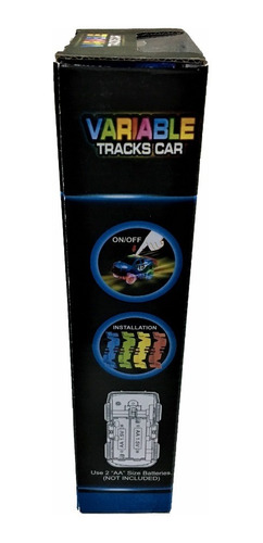 pista flexible autos variable tracks car luces led 49 pzas