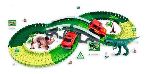 pista flexible dino track cars original next point