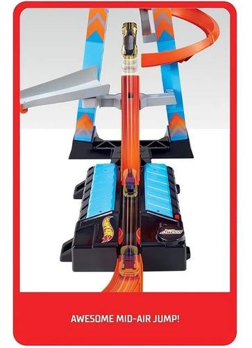 pista hot wheels action torre de colisão aérea mattel
