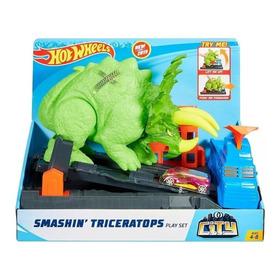 Pista Hot Wheels Ataque De Triceratops Gbf97 - Mattel