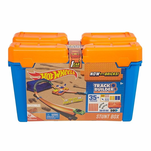 pista hot wheels balde kit completo + 2pack extensão dww95