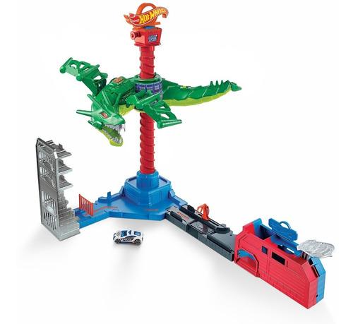pista hot wheels city rubo beasts ataque aéreo do dragão