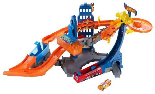 pista hot wheels color de la llama de combate playset multi