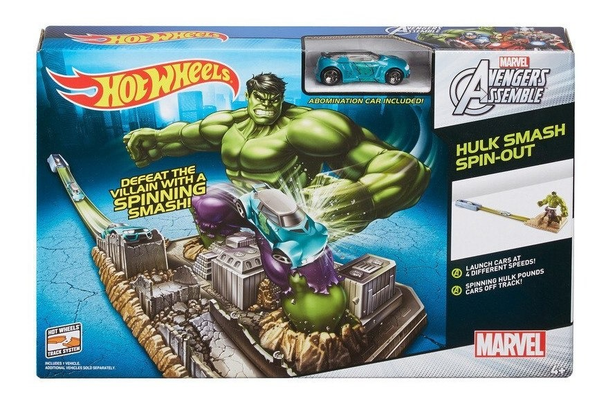 a few days away cute large discount Pista Hot Wheels De Hulk Avengers Nueva!