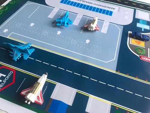 pista hot wheels gigante 3 metros  pista + aeroporto