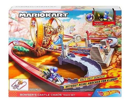 pista hot wheels mario kart castelo do caos mattel
