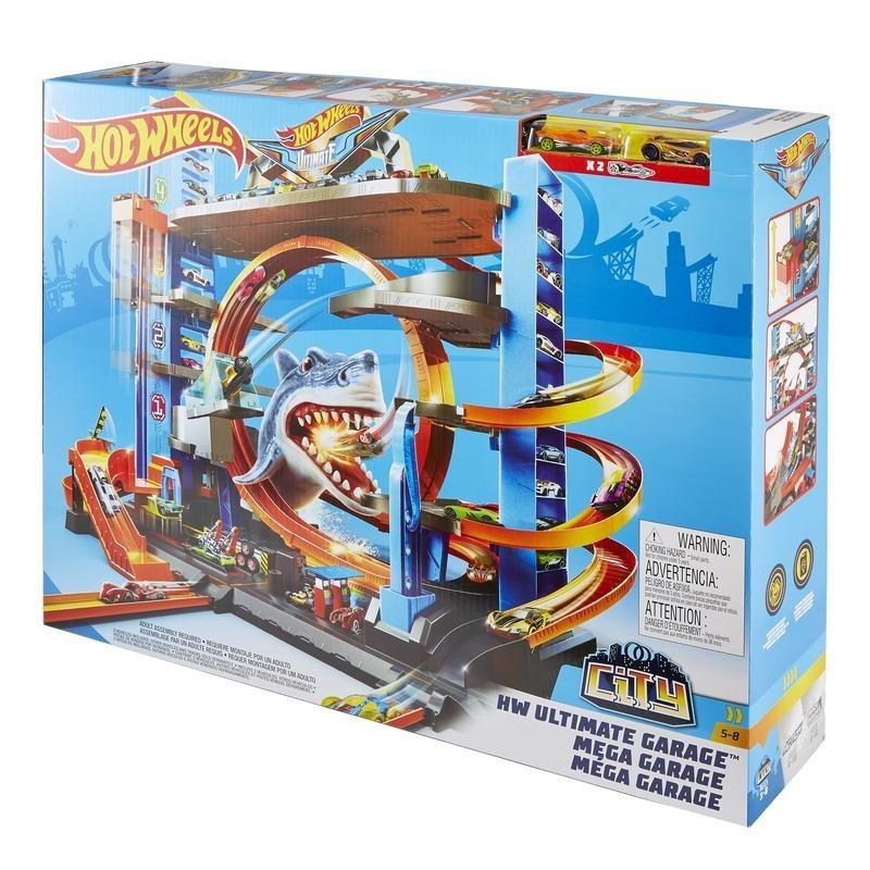 Pista Hot Wheels Mega Garagem Tubarão Gigante
