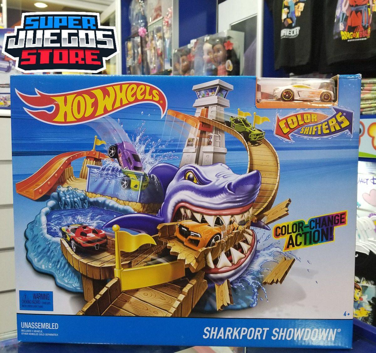 Pista Hot Wheels Sharkport Showdown Super Juegos Store Bs 75 00