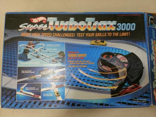 pista hot wheels super turbo trax 3000, vintage, completa