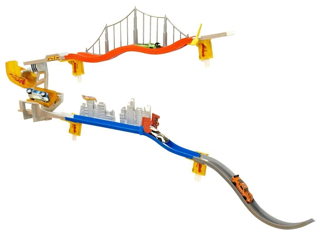 Hot Wheels Wall Tracks Power Tower Product Review - YouTube