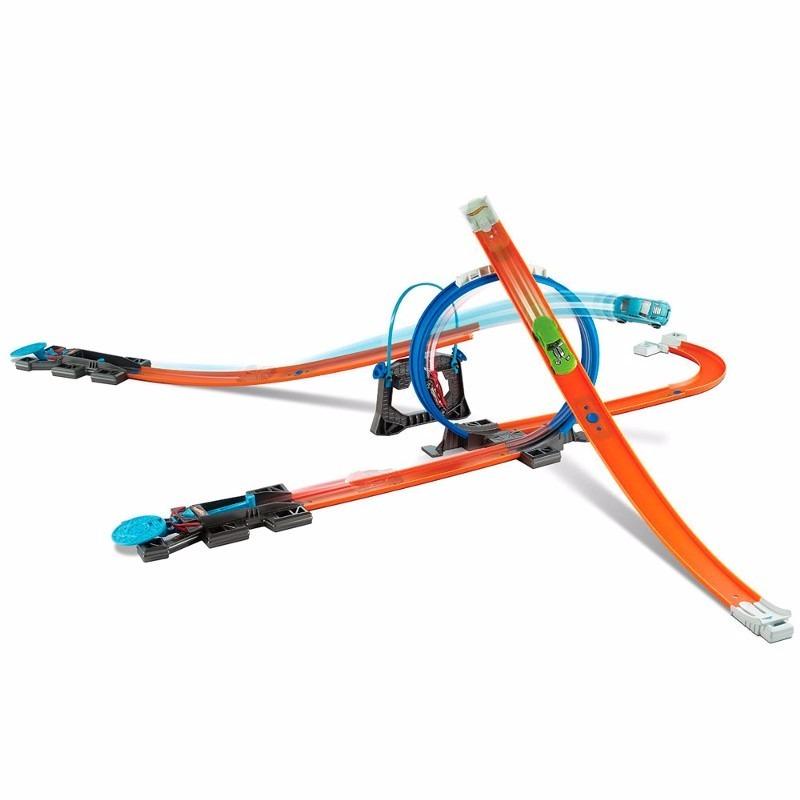 Pista hot wheelstrack builder com looping e ve culo mattel for Www builder