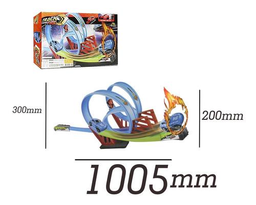 pista hot yupi 2 looping 360 com carrinho 17 peças  yupitoys