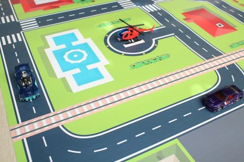 pista hotwheels lona - tamanho 180x100cm