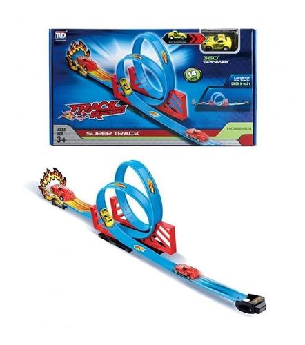 pista looping 360º infantil hot com carrinho - yupitoys
