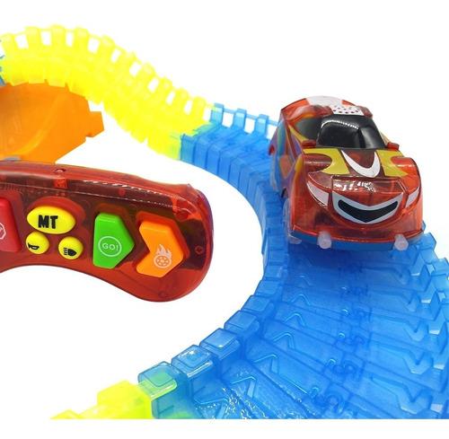 pista luminosa flexible auto a control con sonidos 220 pzs