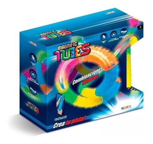 pista luminosa flexible magnific tubes juego carreras