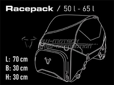 pista maleta trasera sw motech semi-rigida 50-65lt moto
