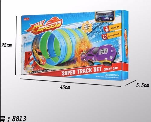 pista max speed 6 aros stk497-116 carro carretera