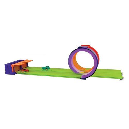 pista micro wheels acrobacias + 2 autos headstart (2336)