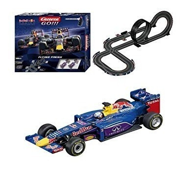 pista slot carrera go!!! flying finish red bull  escala 1/43