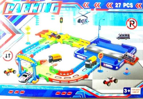 pista super garage carritos  somos tienda. 41 cm.
