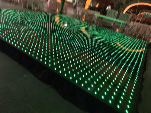 pistas de baile, digital led pixel, iluminadas de cristal.
