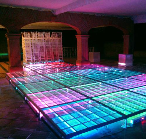 pistas de cristal iluminadas para baile