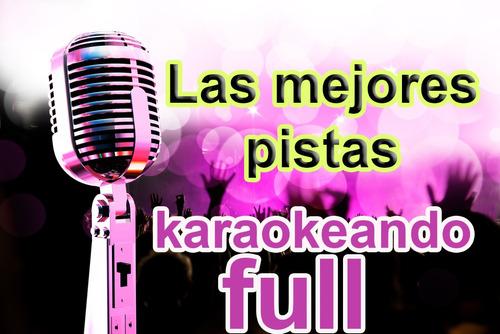 pistas de karaoke + reproductor + libro ingles y español