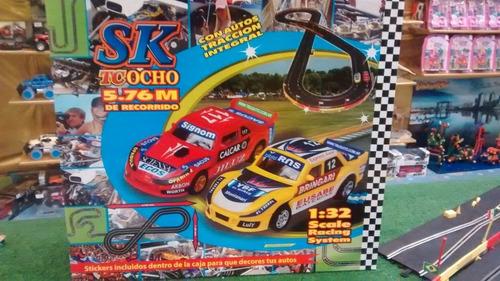 pistas de scalextric sk slot tc 8 super 5,76 mts jretro