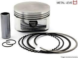 pistão c/ anéis metal leve cg 125 bolinha anos 77 à 91 0,50