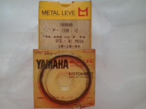 pistão com anéis yamaha rdz 125 0,50 - metal leve / yamaha