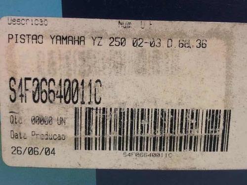 pistão e anéis athena yz 250 02-03 66.36mm d cod: 2447