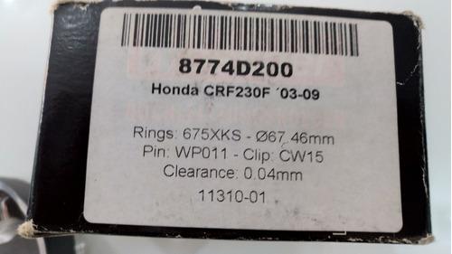 pistão moto crf 230 (03/09)  wossner