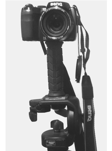 pistol grip handle - suporte estabilizador dslr celular led