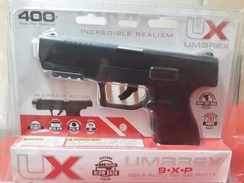 pistola aire co2 umarex 9xp c/blowback metal 4,5mm/400fps