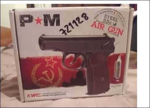 pistola airgun / airsoft kwc p40 makarov por encargo